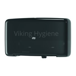 5555290 Tork Mini Jumbo Dual Toilet Roll Dispenser Black