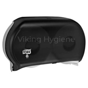56TR Tork Jumbo Toilet Twin Roll Dispenser Black