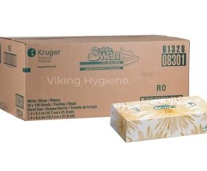 LACC61328-08301 White Swan Soft Facial Tissue – 30 Box x 100 Sheets in Case