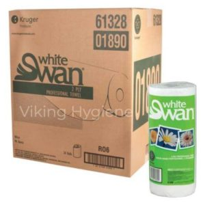 LACC61328-01890 White Swan Paper Towels 24 Rolls x 90 Sheets