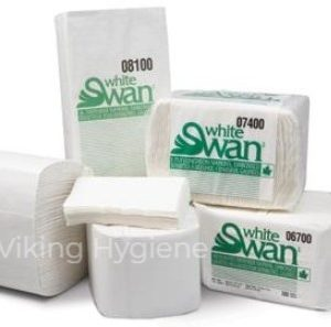 LACC6000 – White Swan Table Top Napkins 24 x 250