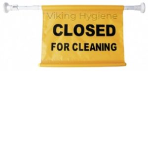 Sign – Closed For Cleaning, Hanging Sign