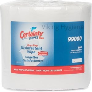 Certainty® One-Step Disinfectant Wipes, 800 Sheets/Roll, 2 Rolls/Box